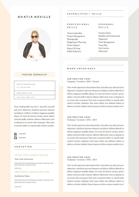 5 Page Resume Template And Cover Letter References Template For Word Diy Printable Modern Muse Professional And Creative Design Resume Design Resume Template Resume Templates