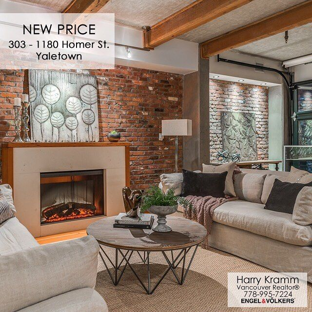 Just Re-Listed at a new price! This beautiful loft in the exclusive McMaster building in the heart of Yaletown. Agent Open Friday 10-12 with Public Opens Sat/Sun 1-3/2-4. . Info: themcmasteryaletown.com  Address: 1180 Homer Street Suite 303 MLS: R2220705 Area: 1328sqft  List Price: $1590000 . . #socialrealtor #socialmedia #yvrre #realtor in #yaletown #vancity #vancouverrealestate #theevlist #engelvoelkers #evvancouver #wp #linkedin #igersvancouver #instahub #instagood #love this #space…