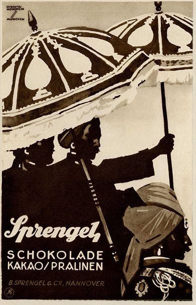 Ludwig Hohlwein (1874-1949), Sprengel Chocolate. (G)