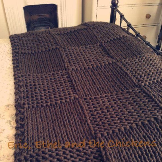 Gorgeous Chunky Chocolate Bed Throw / Blanket Double - Kingsize