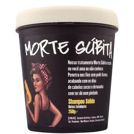 Shampoo Sólido Morte Súbita Lola Detox Esfoliante 250g