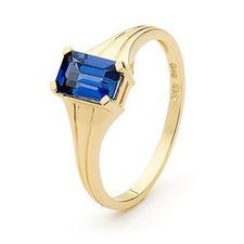 Sapphire Ring - Classic Modern - BEE-25337-SACR