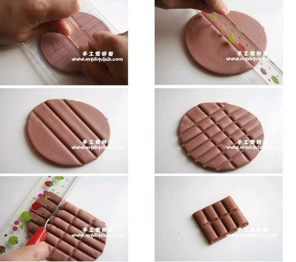 Cr er un tablette de chocolat en p te polym re tape 1 for 1 tablette de chocolat
