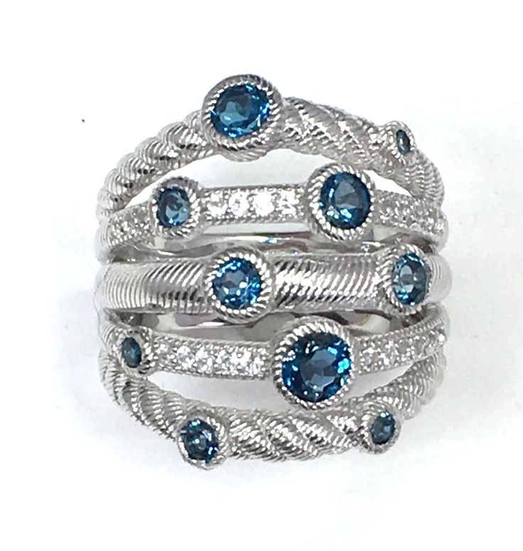 This is such an incredible set of stackable rings! Judith Ripka created these!