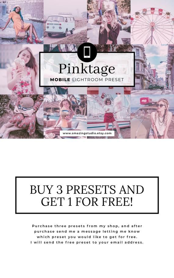 Mobile Lightroom Preset Pinktage Lightroom Preset Pink Etsy In 2020 Vintage Lightroom Presets Lightroom Presets Lightroom