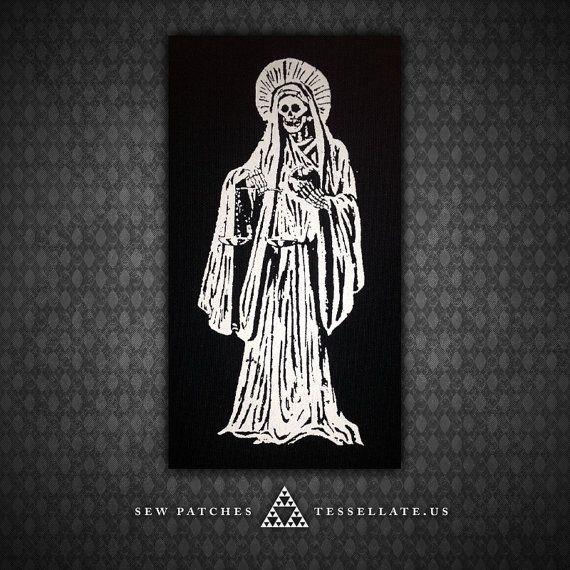 Hey, diesen tollen Etsy-Artikel fand ich bei https://www.etsy.com/de/listing/169757918/santa-muerte-heiliger-tod-schwarz-canvas