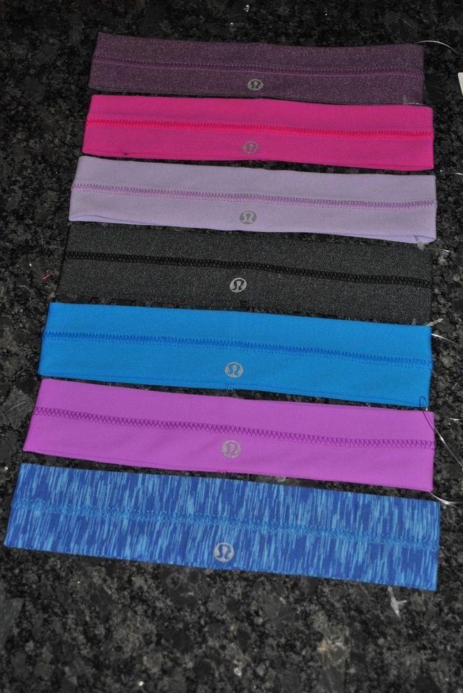 lululemon headband Lulu Lemon hair fly away tamer blue black purple grey new NWT