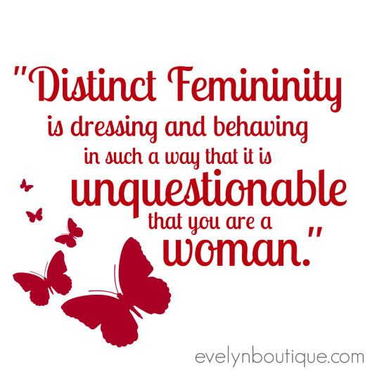 distinct femininity defined