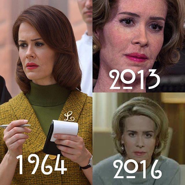78+ year old Lana Winters. #AHSasylum / #AHSroanoke crossover.