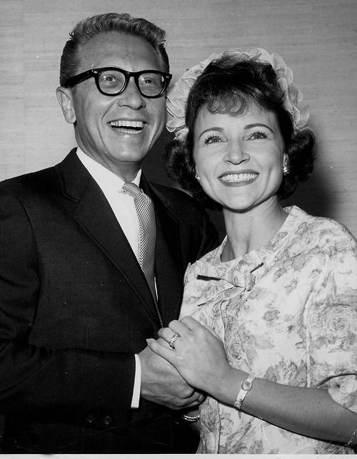 Betty White and Allen Ludden (this was such an endearing love story, they found each other in middle age, married, totalling devoted to each other and he died unexpectly.  She has never remarried and stil talks about him in such lovng terms)