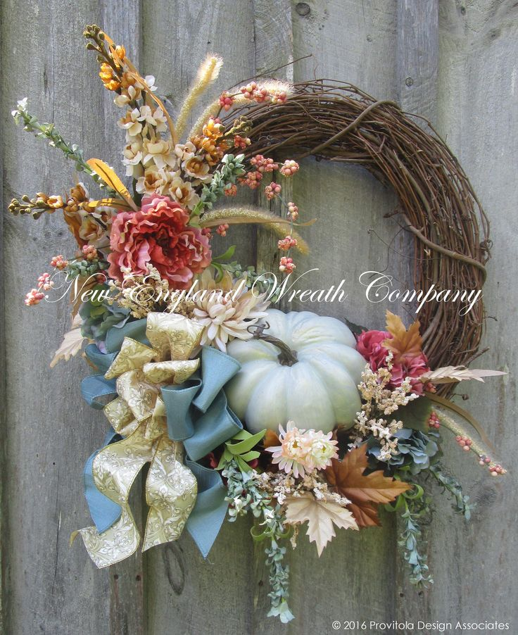 Country French Autumn Meadow Wreath