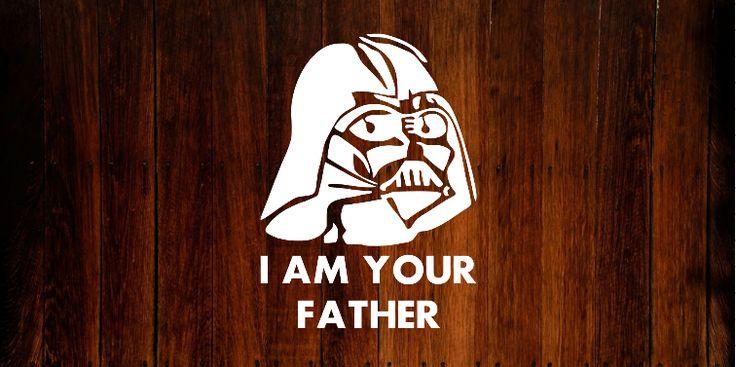 Star Wars Darth Vader Bumper Sticker/Decal. #starwars #decals #vinyl #darthvader #fathersday