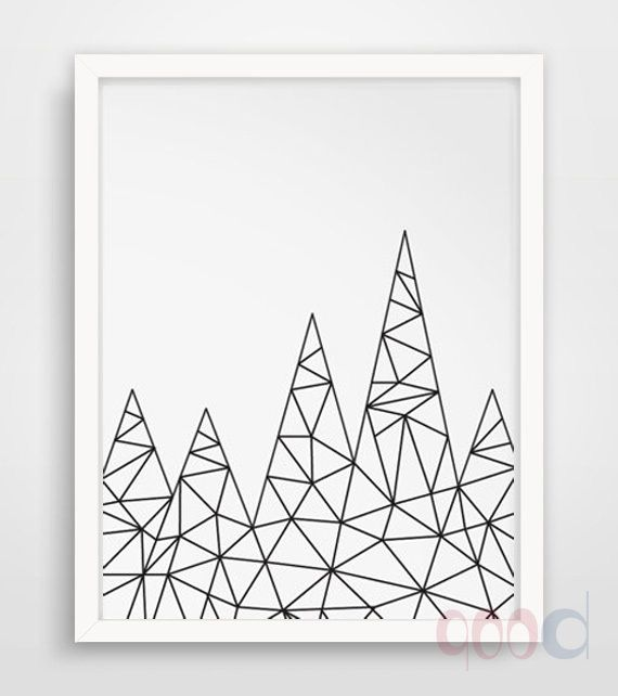 Simple Cartoon Iceberg Canvas Art Print, Wall Pictures for Home Decoration, Painting Poster Frame not include FA214