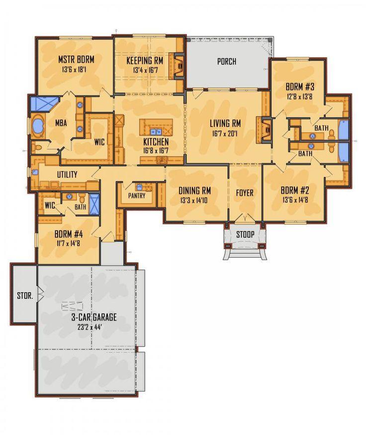 761 best H House Plans images on Pinterest Architecture - new blueprint for 3 car garage