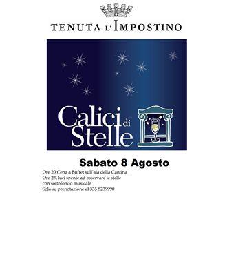 """""""Calici di Stelle"""", Tenuta l'Impostino in collaborazione con Movimento turismo del VIno.  Loc. Impostino -Civitella Paganico-GR- www.tenutaimpostino.it Tel  +39 335 8239990"""