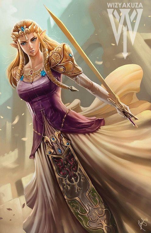 La Princesse Zelda, restylisée...