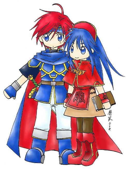 Fire Emblem: Roy and Lilina by gumokohiiragizawa.deviantart.com on @DeviantArt
