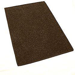 6'x9′ Dark Chocolate Brown – Economy Indoor / Outdoor Carpet Area Rugs   Light Weight Spun Olefin Reliably Comfortable Indoor / Outdoor Rug