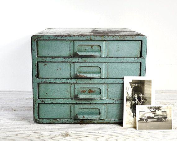 vintage industrial metal cabinet u2022 metal drawer cabinet u2022 industrial storage - Metal Storage Bins