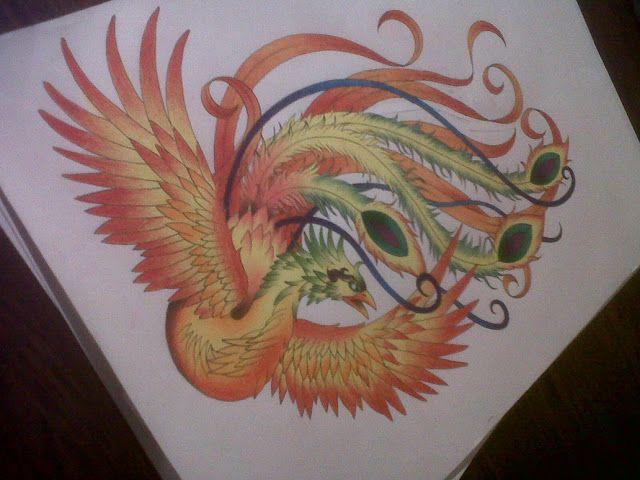 Fenix Colorida Tatoo Phoenix