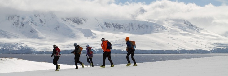 Competitors racing in the 5th edition of The Last Desert in Antarctica