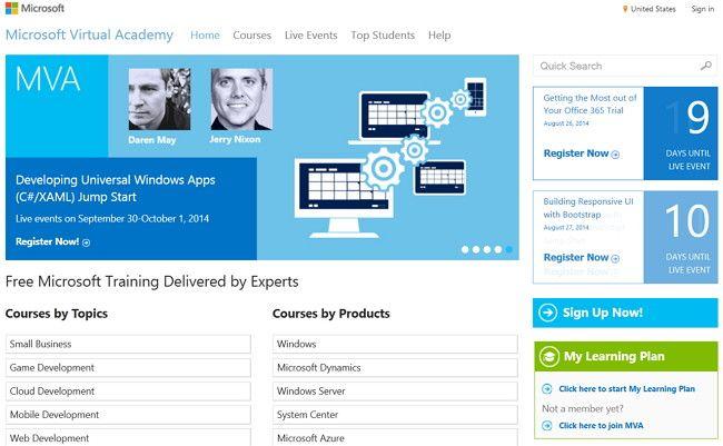 Academia Virtual de Microsoft ofrece muchos cursos gratis en línea y eventos en vivo, algunos en español