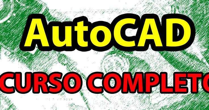 Curso completo e totalmente gratuito de AutoCAD em forma de vídeo-aulas narradas, cobrindo desde o básico (2D) até o avançado (3D).