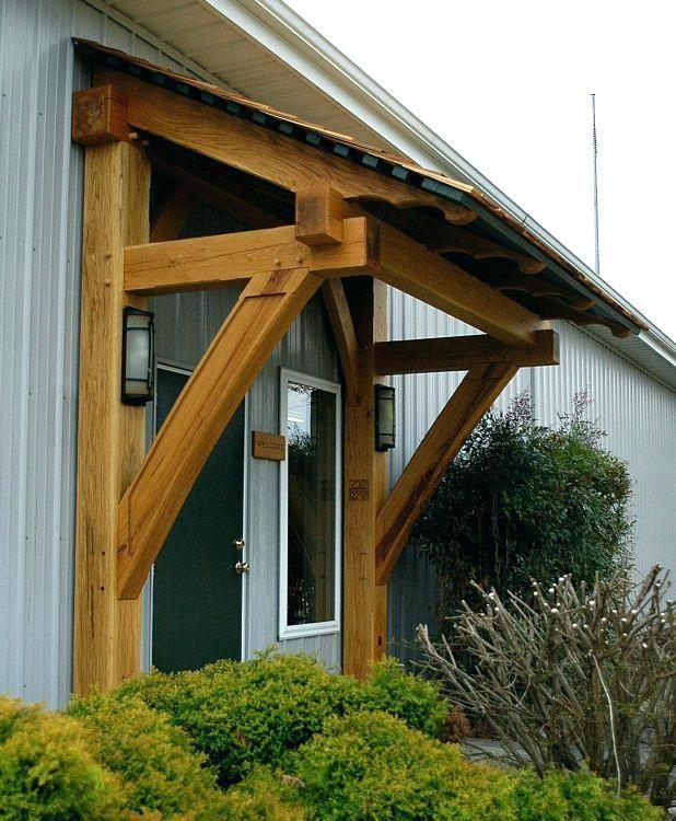 Wooden Awnings For Front Door Door Design Front Door Wood Awnings For Home Front Door Wood Awning Kit Timber Fra Timber Frame Porch House Exterior Porch Timber