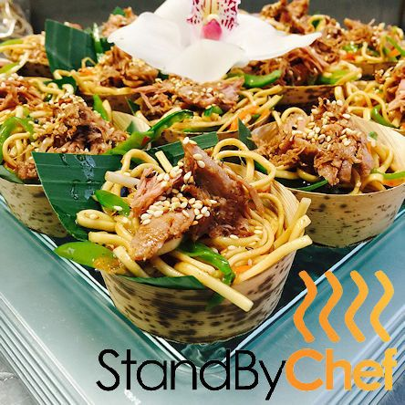 Chinese Noodle Salad with shredded Duck