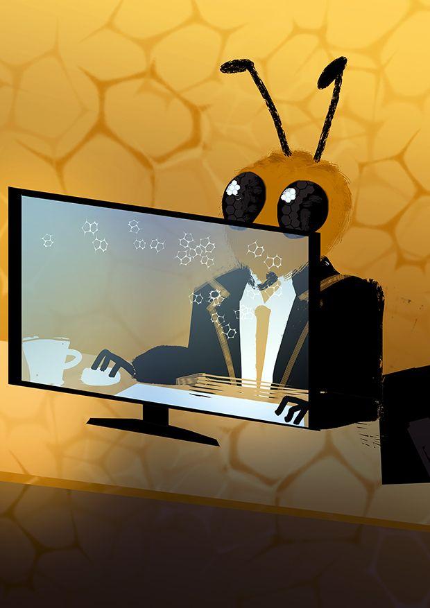Working bee by Odrobinka.deviantart.com on @DeviantArt