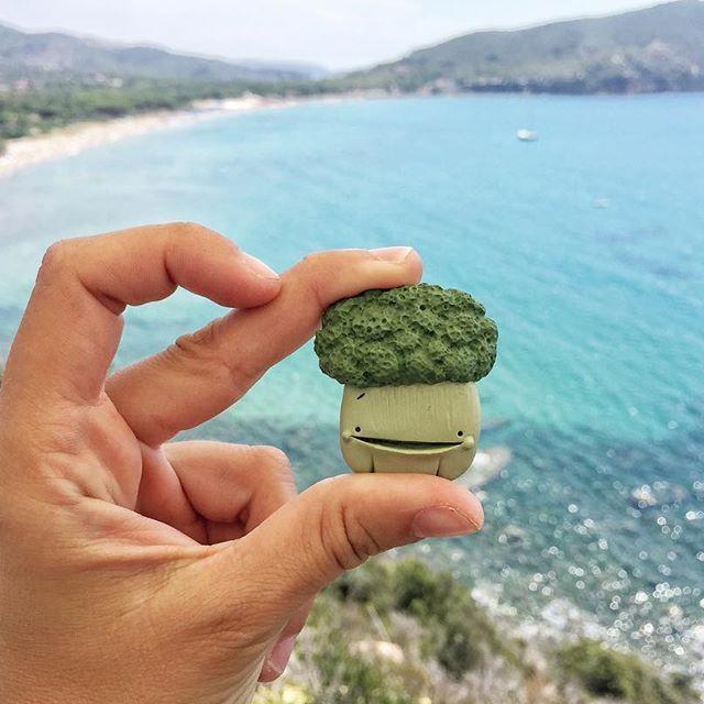 Ecco perché sono sparita, ero all'isola d'Elba a godermi a più non posso questo splendido mare, le amicizie e le giornate di riposo 😍 Buon lunedì ❤ . . . . #broccoli #brooch #broochlover #spilla #lacona #isoladelba