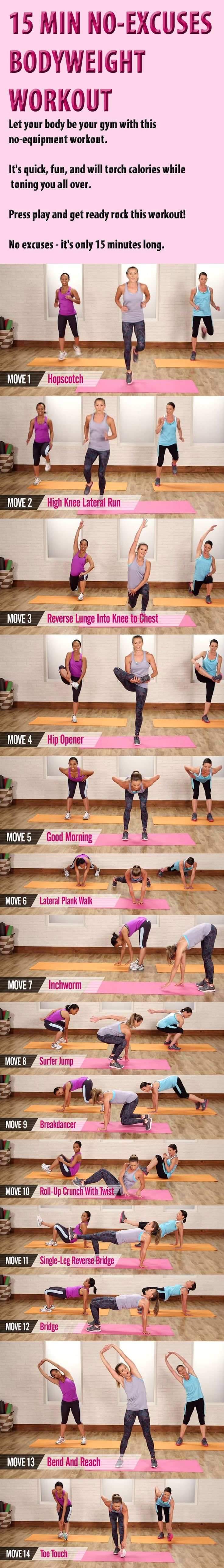 15- Minute No-Excuses Bodyweight Workout
