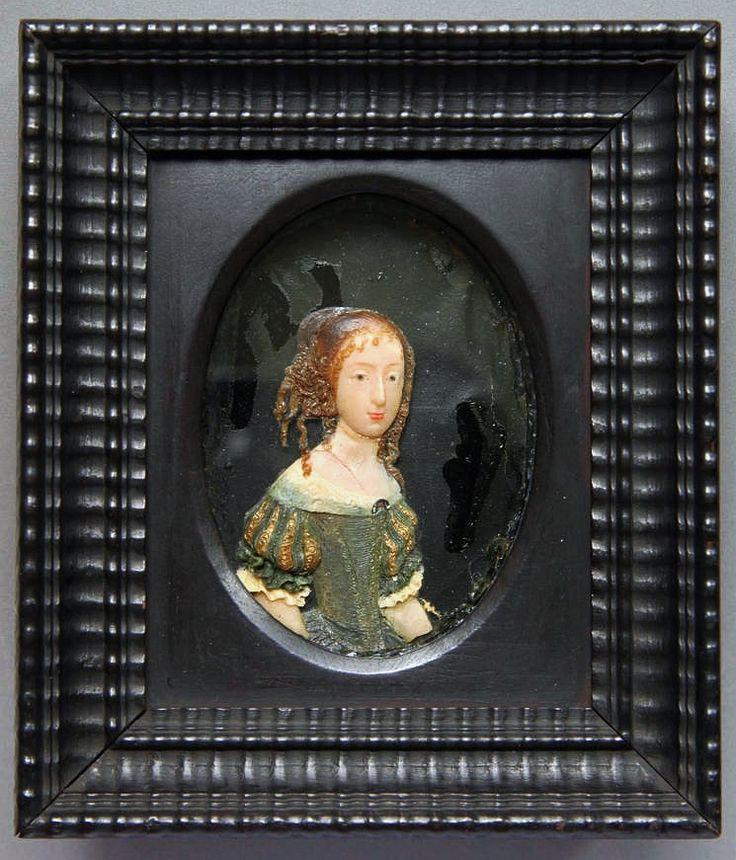 Wax miniature of Archduchess Eleanor Maria Josepha of Austria by Anonymous, before 1671, Staatliche Kunstsammlungen Dresden - Rüstkammer