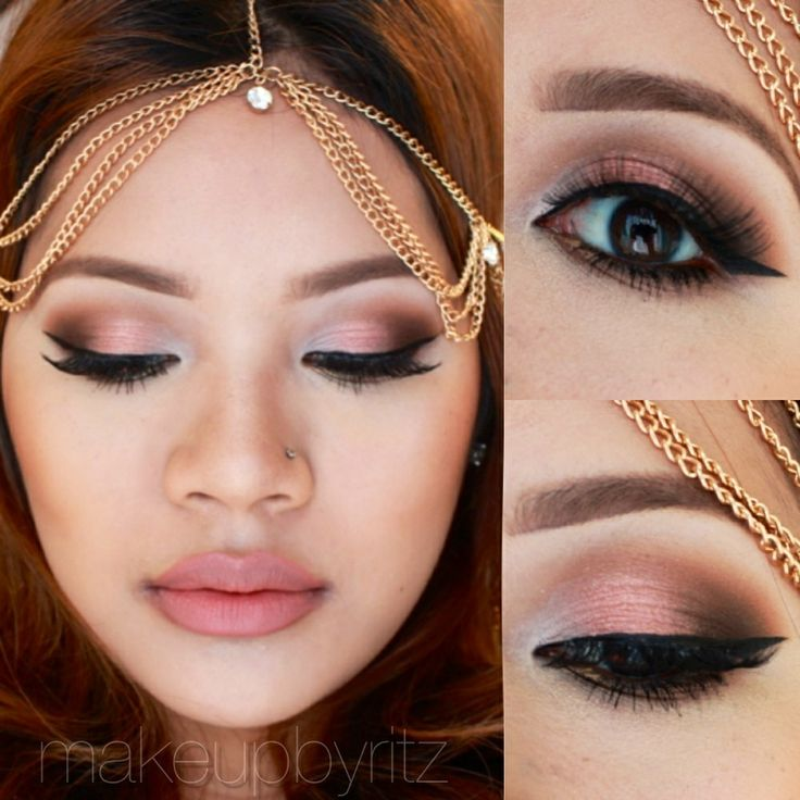 Head chain & pink makeup