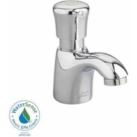 American Standard 1340.105.002 1.0 GPM Pillar Tap Metering Faucet, Chrome, Beige