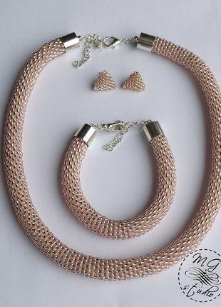 Kup mój przedmiot na #vintedpl http://www.vinted.pl/akcesoria/bizuteria/12551967-komplet-bizuterii-hand-made