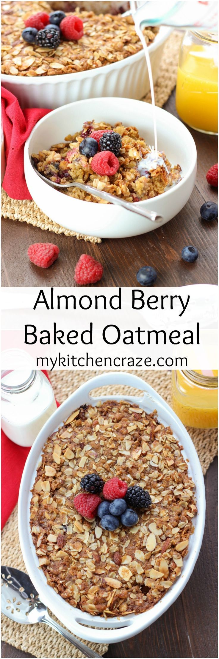 Almond Berry Baked Oatmeal ~ mykitchencraze.com ~ Perfect for those ...