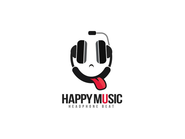 Logo of a funny face with inversed headphone as smiley face. The tongue brings a touch of humour and give a contrasting element to the logo.  This logo is ideal for : music party, party flyers, mus...