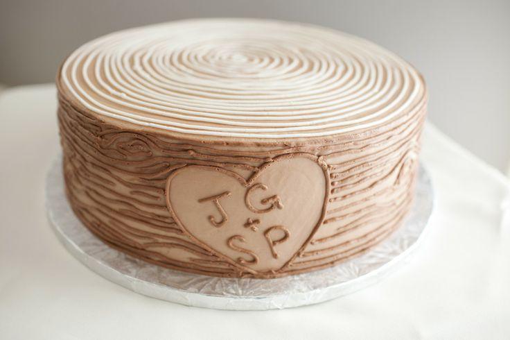 Wood ring cake #wedding #wed #ido
