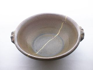 Perpetuity baked pot of image: Koishiwara's gold joint mending of vessel