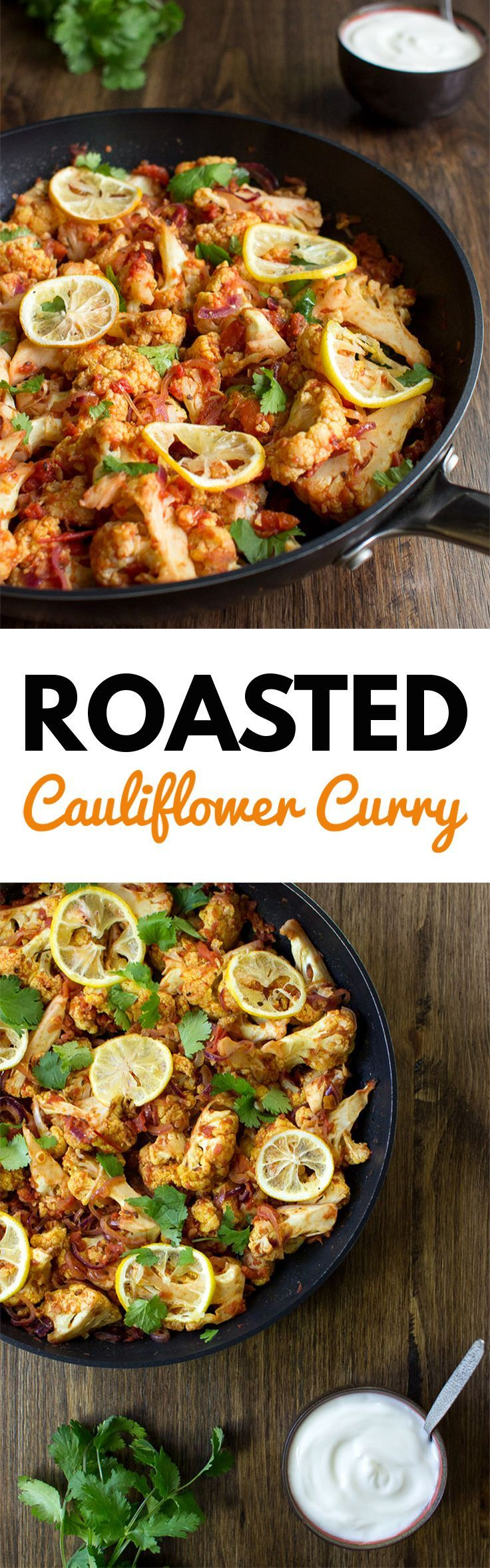 Roasted Cauliflower Curry | Sweet, Spicy and Vegan - Pakistani Style. A delicious fusion of Pakistani spices | hurrythefoodup.com