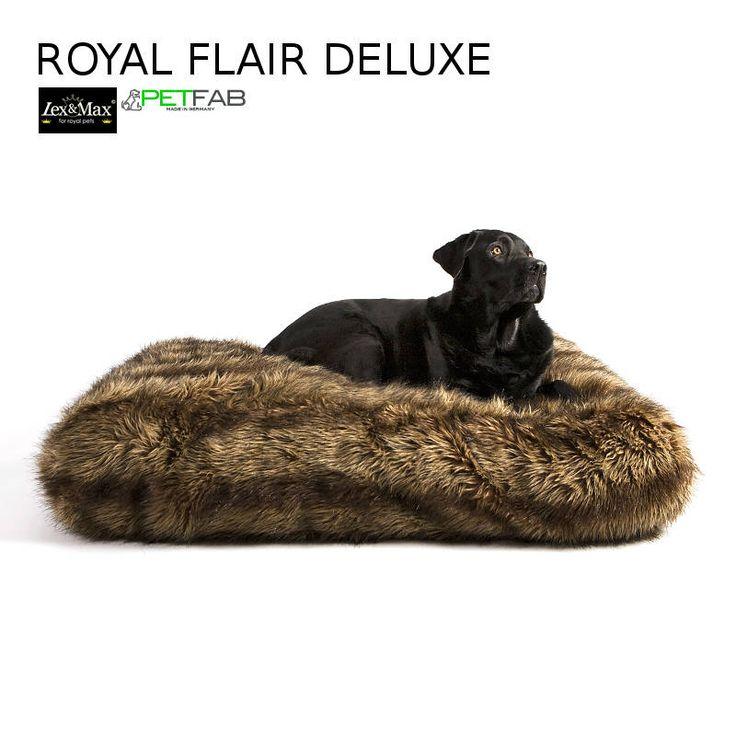 ROYAL FLAIR DELUXE Wolf #Hundekissen – Höhe 21cm  Hochwertige und gesunde Hundekissen, #Hundebetten