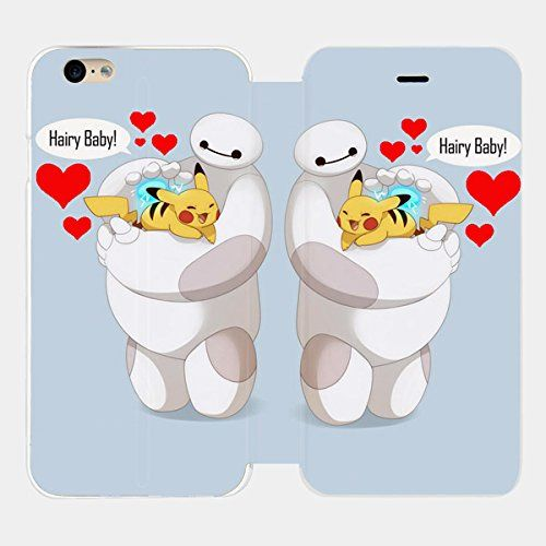 Baymax Hairy Baby Pikachu Custom Flip Cover for Iphone 6 and Iphone 6 Plus (Flip Cover iPhone 6 plus) flip cover http://www.amazon.com/dp/B00XHMCYCK/ref=cm_sw_r_pi_dp_C6bxvb00K8TQM