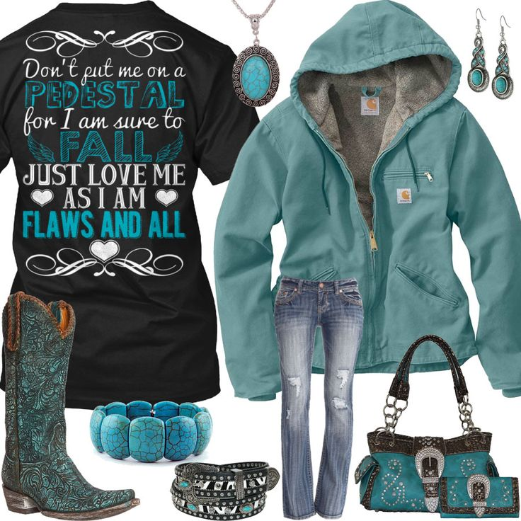 Love Me As I Am Flaws And All Turquoise Outfit - Real Country Ladies