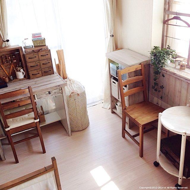 和室/DIY…などのインテリア実例 - 2014-03-18 11:41:37 | RoomClip ... 女性で、の和室/DIY/和室を洋室にリメイク/DIY棚
