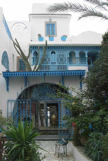 """View from a courtyard by bryanilona, via Flickr who says """"This was only part of the house viewed from the internal courtyard of the traditional Tunisian house at Sidi Abu Said, now open to the public as a private museum."""""""