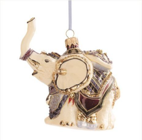 Elephant Ornament - asian - holiday decorations - - by Gump's San Francisco