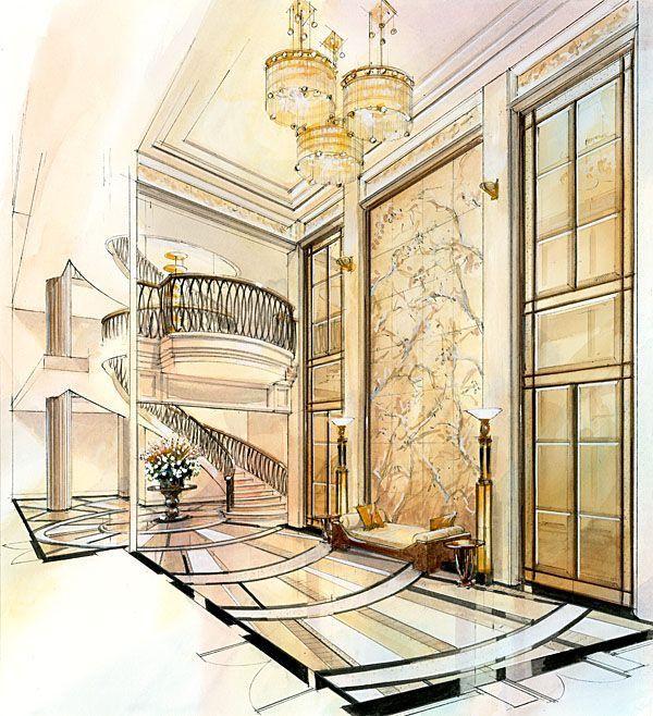 Interior Design Color Sketches 52 best rendering images on pinterest | interior rendering