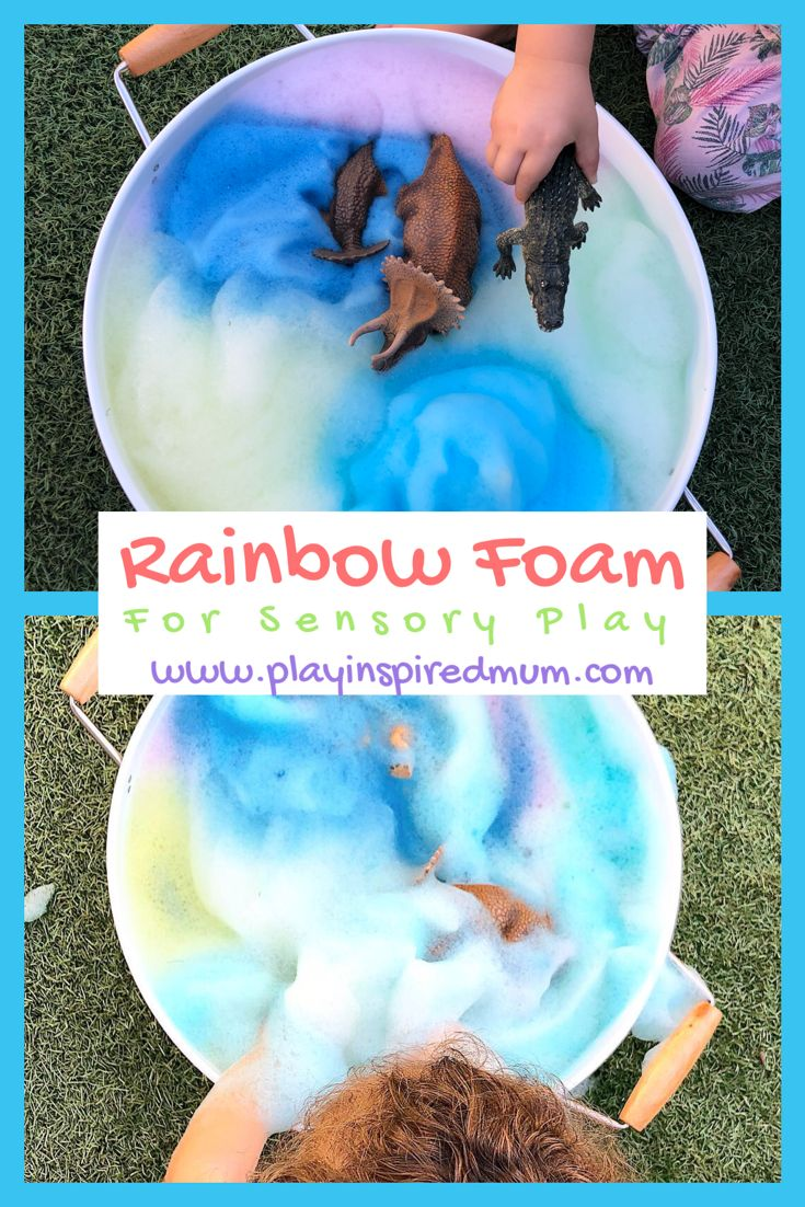 DIY Rainbow Foam for Sensory Play – Play Inspired Mum
