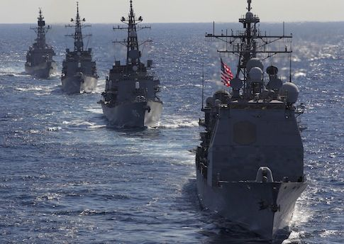 Chinese Naval Vessel Tries to Force U.S. Warship to Stop in International Waters:Landing ship sailed dangerously close to U.S. guided missile cruiser